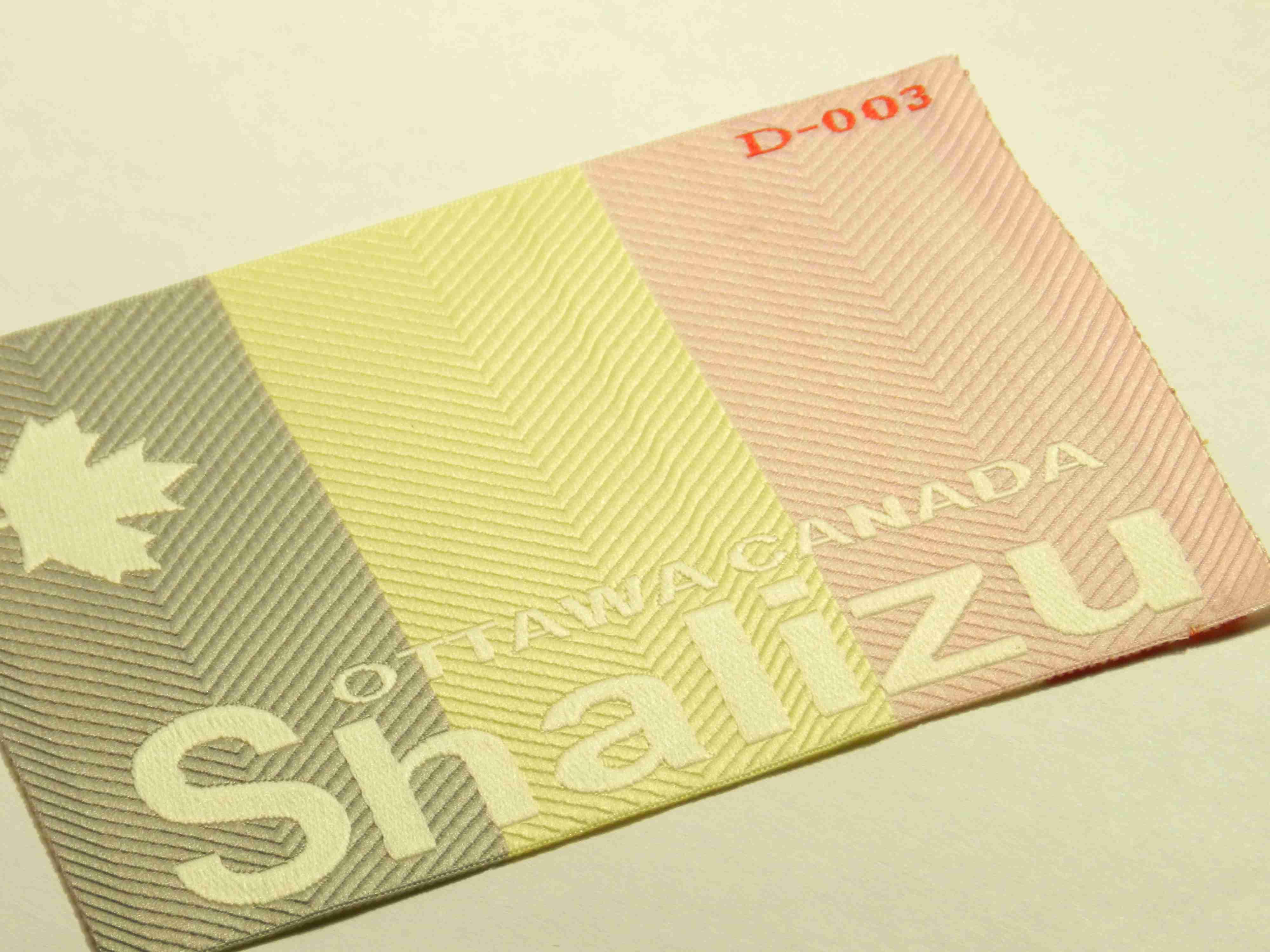 Бирка с фактурной основой на заказ в Киеве — компания «LuxLabel»